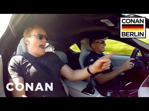 Watch Conan Rocket Down The Autobahn In 360° | CONAN on TBS