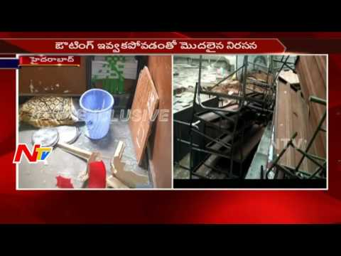 Intermediate Students Damage Entire Furniture in Campus || Nizampet, Hyderabad || NTV