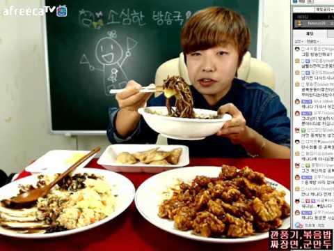 ▶Timid TV station-비글의 깐풍기,쌀짜장면,볶음밥,군만두 먹방 151003