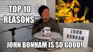 Top 10 Reasons Why John Bonham Is Such A Great Drummer - Drum Teacher Analysis (2020)