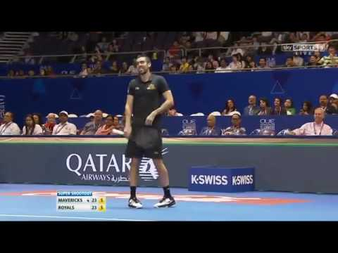 [HD] Ivo Karlovic vs Marin Cilic Super Shootout IPTL Singapore 2015