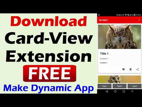 Repeat Download Free Material Card View Extension | Kodular