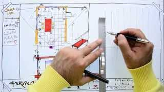 Fast Sketch - How to Draw  a One-Point Perspective From the Existing Plan