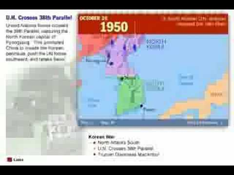 Worksheet. History of the Korean War 1950  1953 Map  YouTube