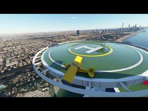 Burj Al Arab Extreme Helipad Landing, Takeoff Propstrike + Attempts in Microsoft Flight Simulator
