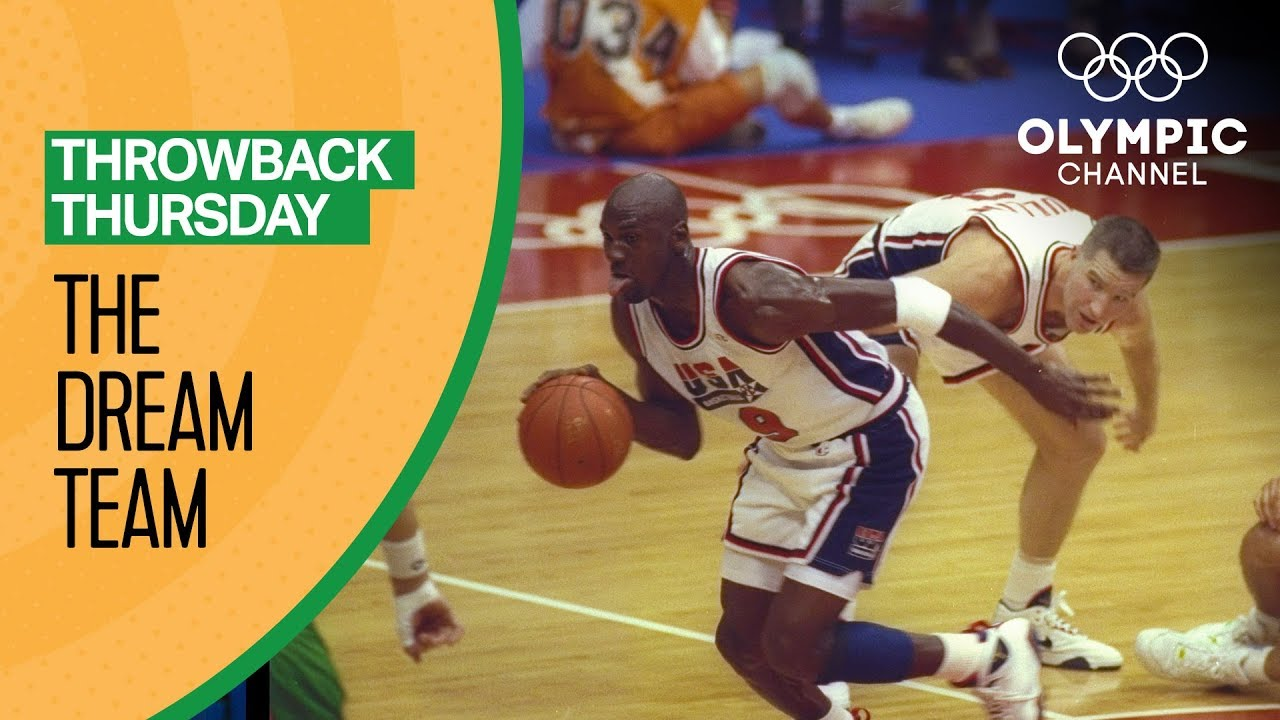 9478a4ef5da The Best of the Dream Team at the Barcelona 92 Olympics | Throwback Thursday