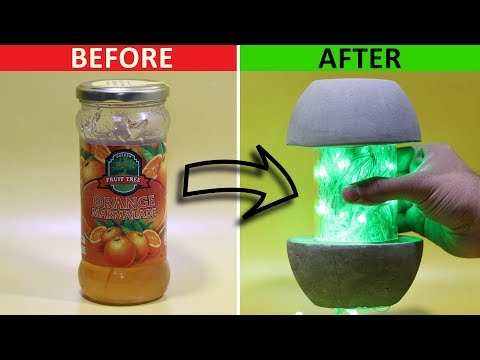 5 CONCRETE LAMP DIY AND CEMENT CRAFT IDEAS YOU SHOULD KNOW (COMPILATION)
