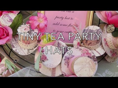 fcffa1f1 DIY TINY TEA PARTY HATS - YouTube