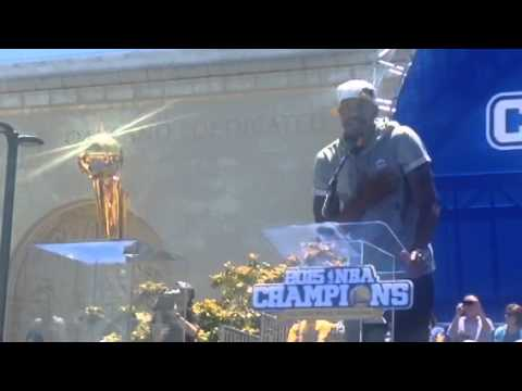 Andre Iguodala Speech At Warriors Rally Oakland