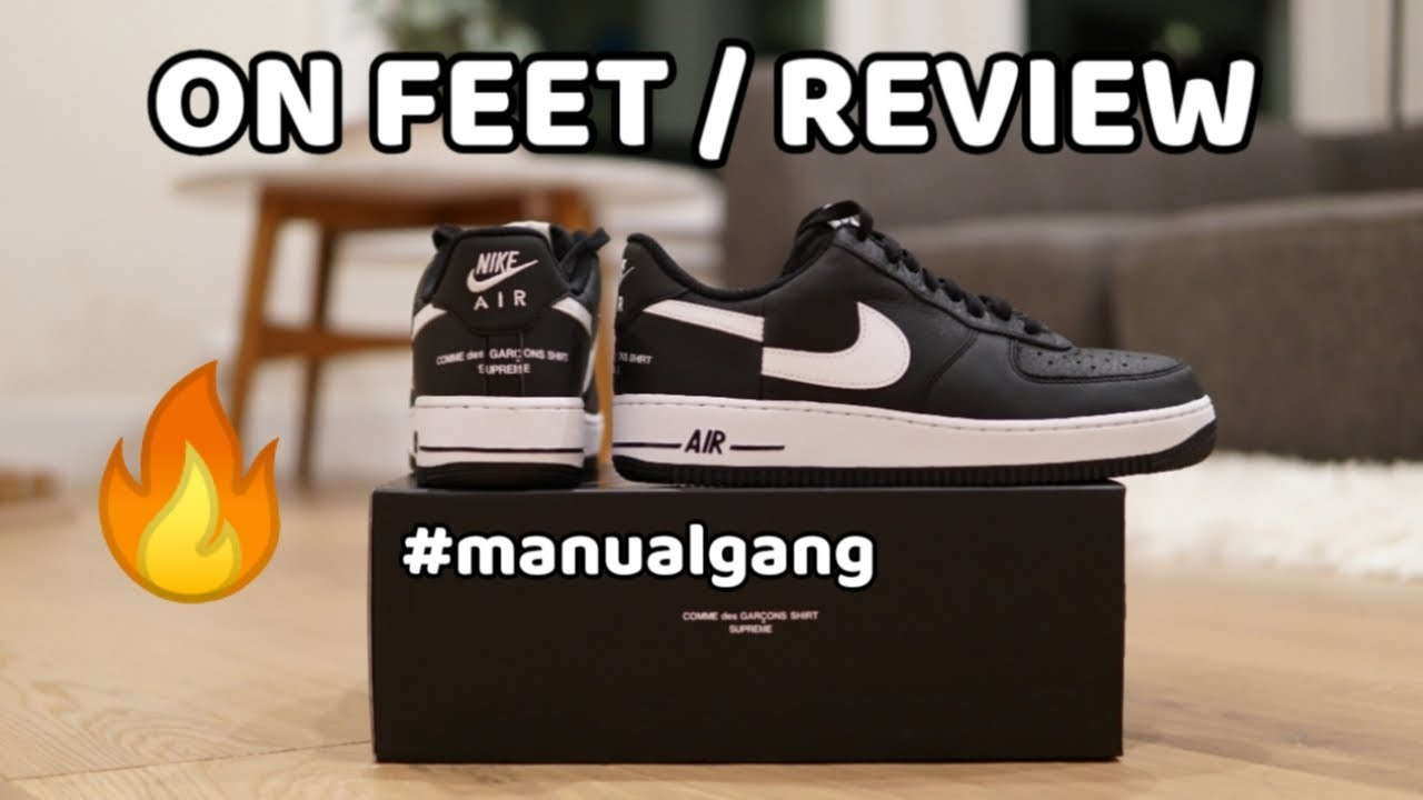 d0d2c38599df Supreme x CDG x Nike Air Force 1 (2018) - Unboxing   On Feet   Review