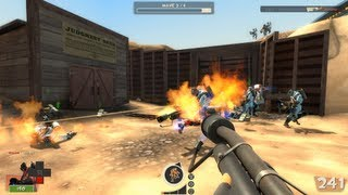 Let's Play Team Fortress 2 Man Vs Machine Co-op Mode