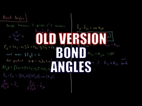 Computational Chemistry 1.8 - Bond Angles (Old Version)