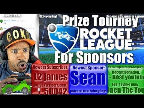 Rocket League Prize Tournament For Sponsors!