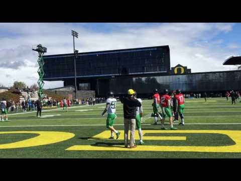 Oregon Ducks spring football practice No. 3: Willie Taggart talks and Ducks play 11-on-11