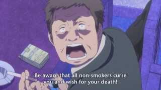 Sekai Seifuku Hoshimiya Kate & smoking scene