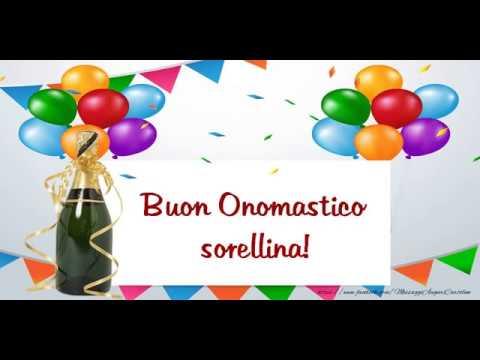 Top Tanti auguri di Buon Onomastico Sorella! - YouTube ZO25