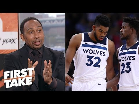 Stephen A.: Butler questions the heart of Towns and Wiggins   First Take
