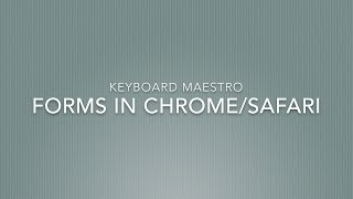YouTube Description Templates with Keyboard Maestro