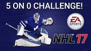5 ON 0 GOALIE CHALLENGE! (NHL 17 vs BOJoeKO)