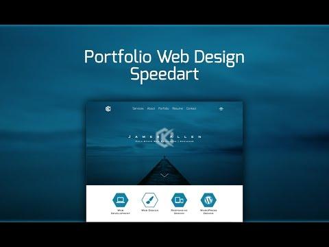 Web Design Speedart - Portfolio Site Redesign