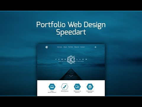 Web Design Speedart – Portfolio Site Redesign
