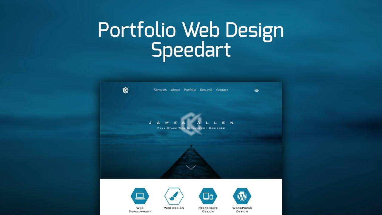 fcbb8ce818def Web Design Speedart - Portfolio Site Redesign - YouTube