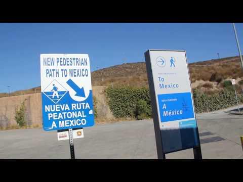 Walking to Mexico through the San Ysidro border crossing into Tijuana
