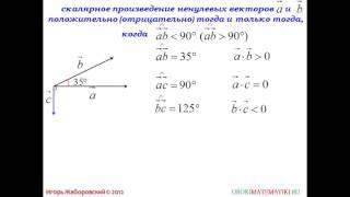101  Скалярное произведение векторов