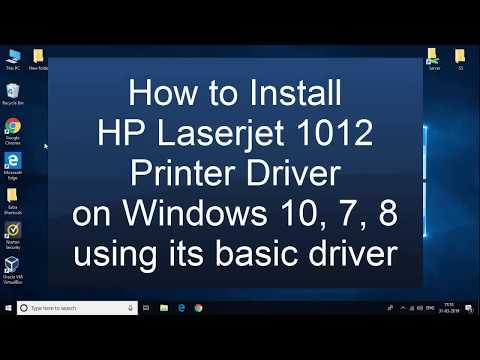 How To Install HP Laserjet 1012 Printer Basic Driver On Windows