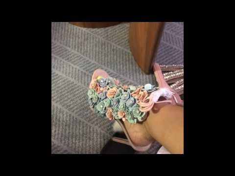 Cardi B shows Off Her shoes and Feet