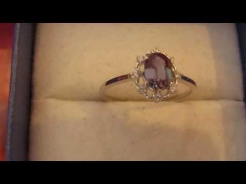Кольцо с александритом Чохральского 1.2 Ct, смена цвета