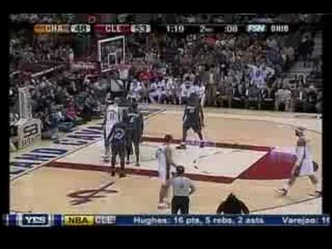 LeBron James facial on Emeka Okafor