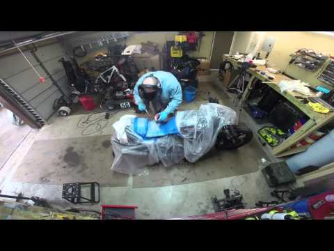 MaksWerks Garage - Building a Custom Fiberglass Seat Pan for the Harley VROD