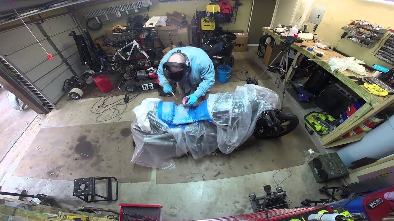 MaksWerks Garage - Building a Custom Fiberglass Seat Pan for the Harley VROD