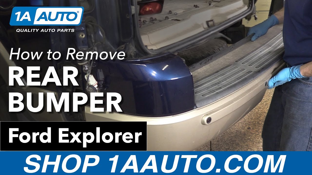 How To Remove Install Rear Bumper 06 10 Ford Explorer Youtube