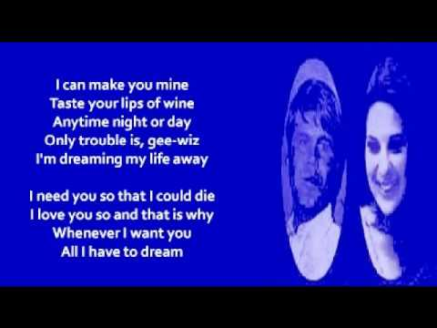Bobbie Gentry and Glen Campbell - All I HaveTo Do Is Dream (+ lyrics 1969)