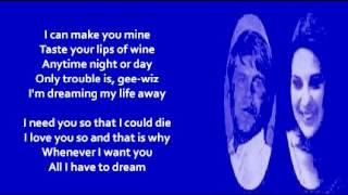 Video Bobbie Gentry and Glen Campbell - All I HaveTo Do Is Dream (+ lyrics 1969) download MP3, 3GP, MP4, WEBM, AVI, FLV Juli 2018