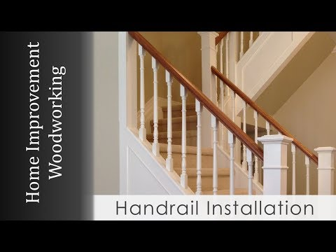 Handrail Install with Newel Posts (Staircase Renovation Series)