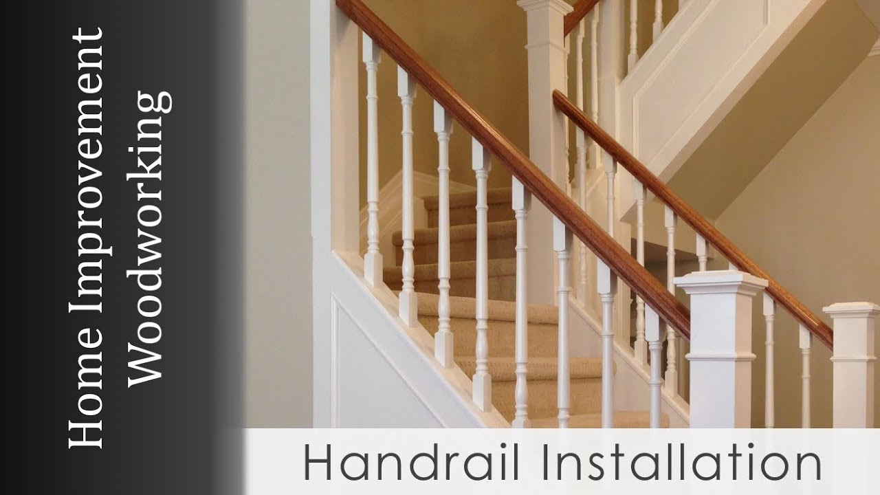 Handrail Install With Newel Posts Staircase Renovation Series | Installing Newel Post And Spindles | Stair Treads | Stair Railings | Stair Banister | Box Newel | Staircase
