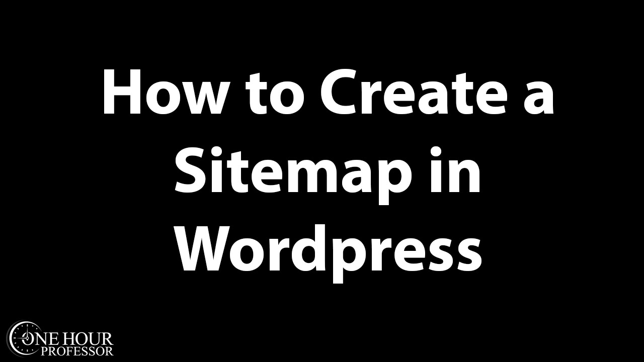 how to create a sitemap in wordpress youtube