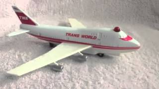 Remco 1993 TWA Airport Playset Trans World Airlines Metal RARE! Airplane 747