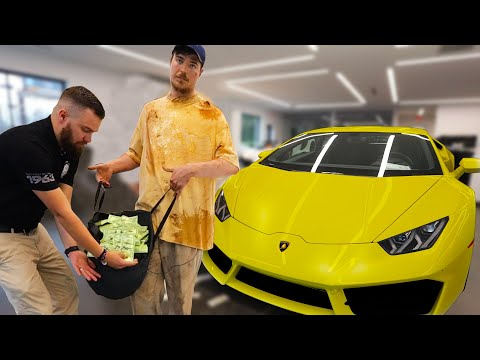 Homeless Man Buys A Lamborghini