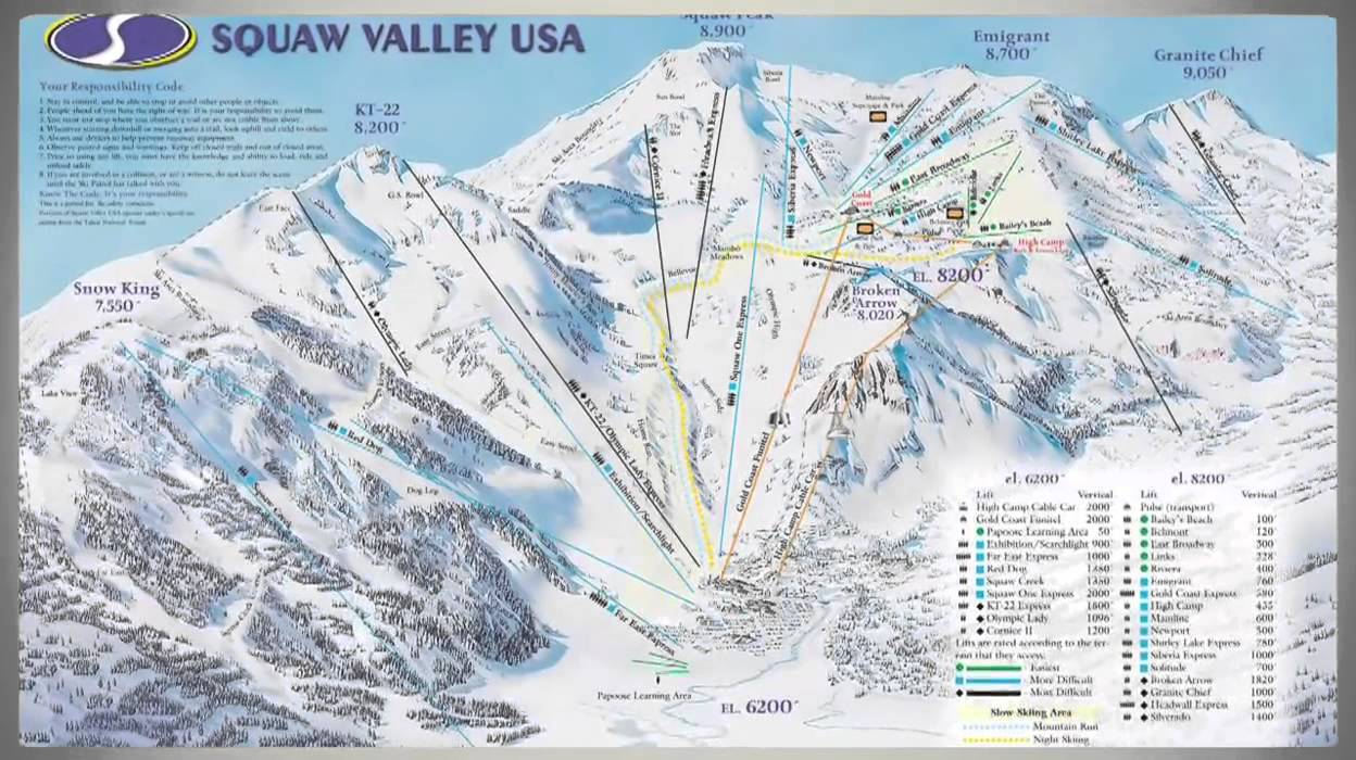 Squaw Valley USA Ski Resort Video Preview