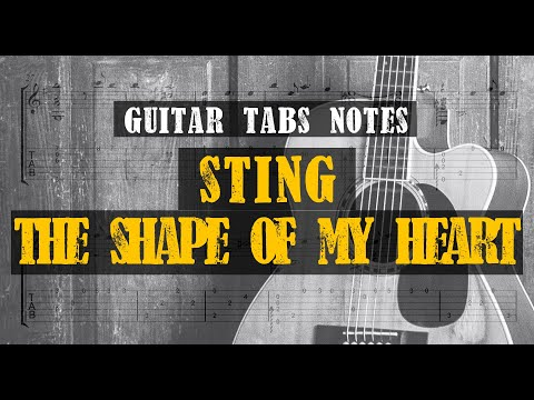 Sting - The Shape of My Heart | transcription with free TABS for Solo Guitar