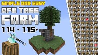Minecraft INSANELY simple AFK TREE farm | Tutorial Very FAST!