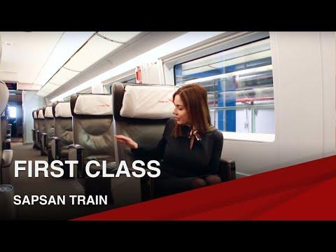 Смотреть High-Speed Sapsan Train I First Class онлайн