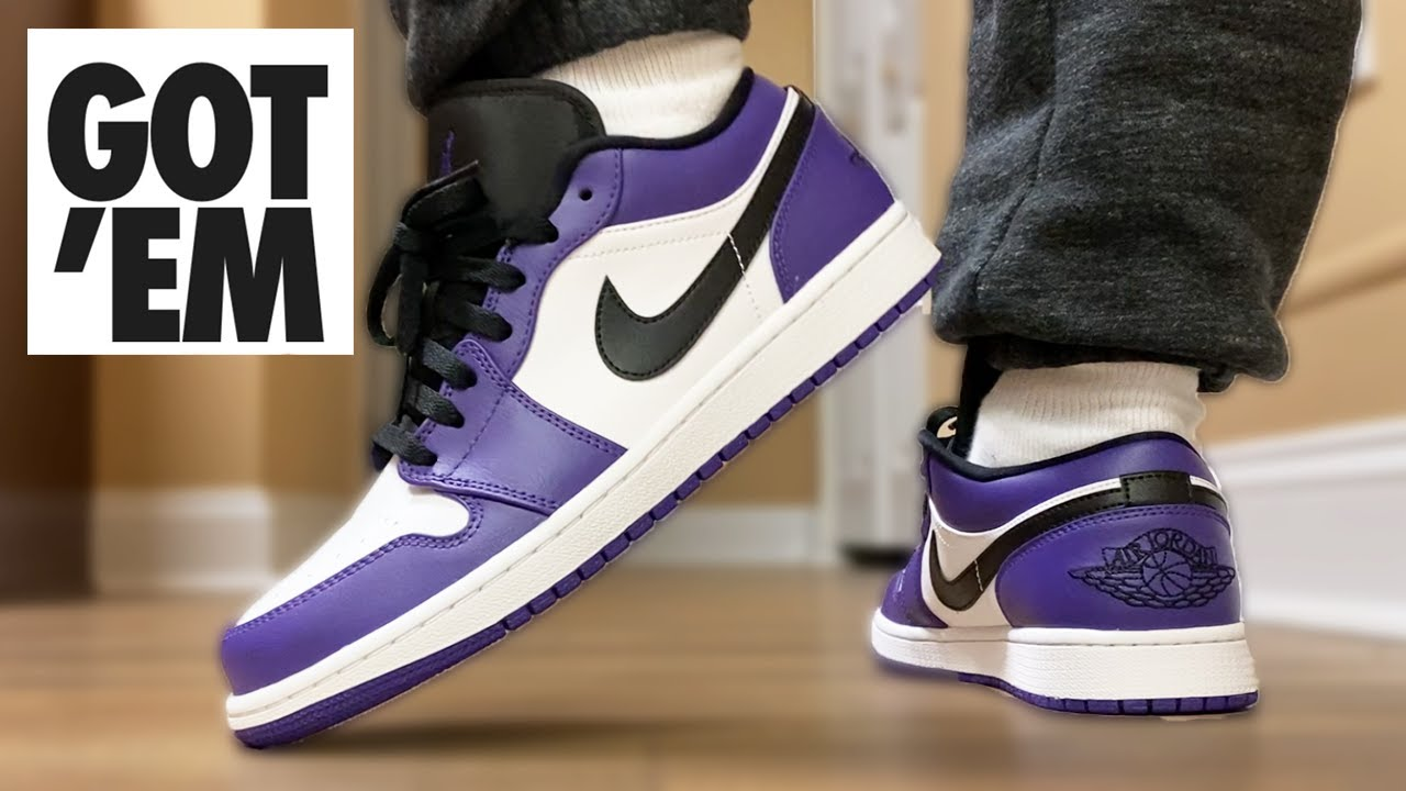 Nike FINALLY Got Them Right! 2020 Jordan 1 Low Court Purple ON FEET!