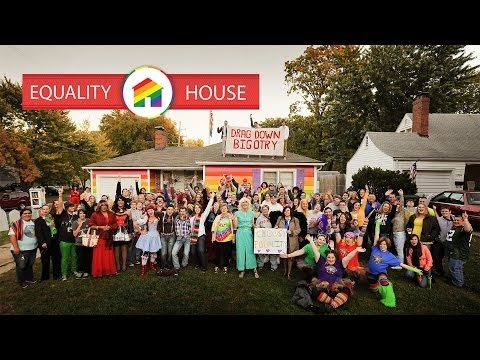 Equality House Hosts 'Drag Down Bigotry' Across From Westboro Baptist Church