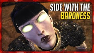 Dragon Age: Origins (Awakening) - Side with the Baroness to permit your wildest fantasies