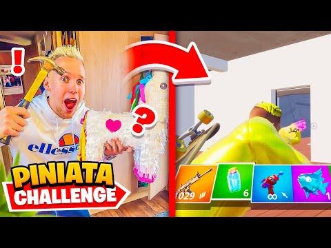 CASSE LA Piñata ALÉATOIRE CHALLENGE  POUR LA SURPISE sur FORTNITE !